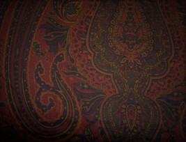 Window Valance New Ralph Lauren Fabric GREYCLIFF paisley navy burgundy t... - $39.65