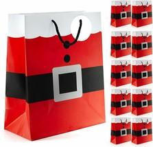 Santa Gift Bags Christmas Boxes Xmas Treat Bags Kids Treat Favor Candy C... - $27.08