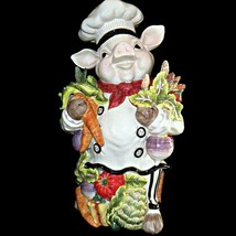 Kaldun and Bogle Bistro Couchon French Market Chef Pig Large Ceramic 20i... - $279.99