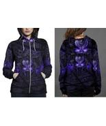 Black Panther Purple Neon Hoodie Zipper Fullprint Women - $50.99+