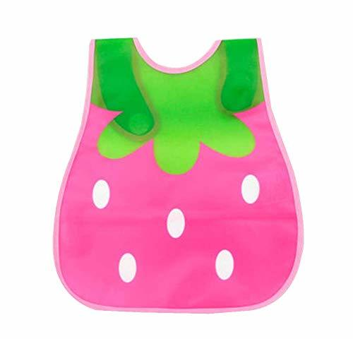 Primary image for Baby Bib Soft Plastic PEVA Waterproof Bib Easy to Clean, Strawberry