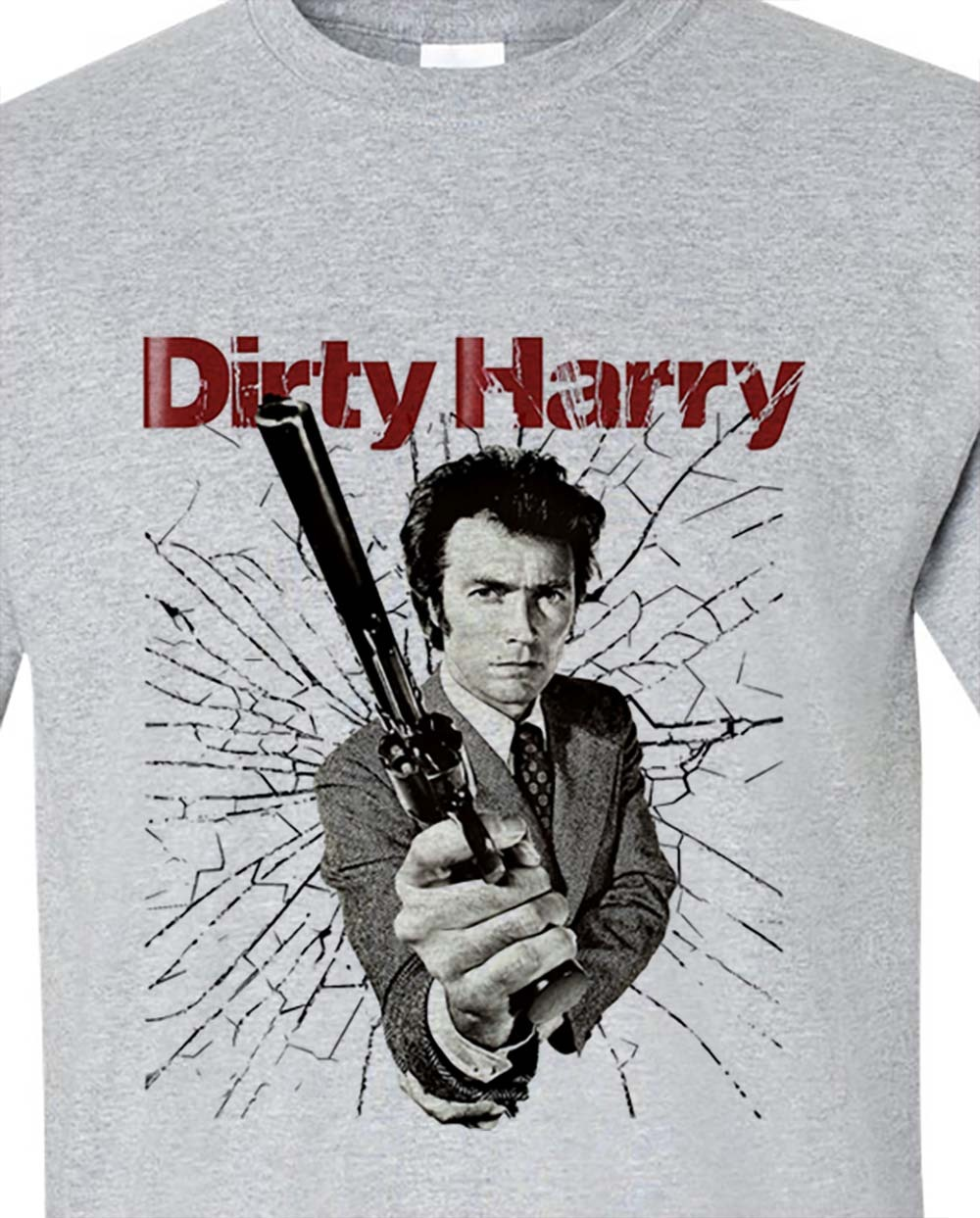 Dirty harry clint eastwood t shirt retro vintage movie graphic tee for sale online gray store