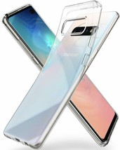Samsung Galaxy S10 Plus Case 2019 Soft TPU Flexible Raised Bezels Crysta... - $25.17