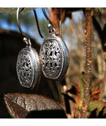 Haunted Solomon's 4th Pentacle of Mercury Alatori Spirit Portal Earrings... - $35.99