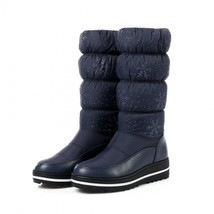 Women Snow Boots Winter Warm Shoes Flat Fur Ladies Ankle Lined With Stit... - $847,13 MXN