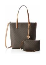 New Michael Kors Hayley MK Handbag Large Purse Designer Bag brown - $175.00