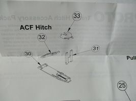 Walthers Proto Stock # 920-6060 Trailer Hitch Accessory Pack PS & ACF Hitches HO image 4