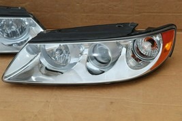 06-07 Hyundai Azera 7-Pin Headlight Head Light Lamps Set L&R - POLISHED image 2