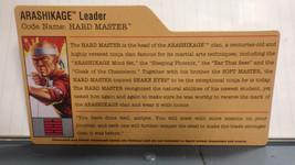 HASBRO VINTAGE GI JOE HARD MASTER ARASHIKAGE LEADER BIO FILE CARD - $10.00