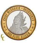 Jefe Washakie Shoshones Indio Americano Gaming Pieza 999 de Plata Ed. Li... - $59.40