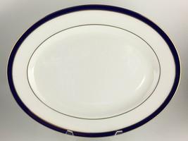 """Lenox Federal Cobalt Oval serving platter 13 """" - $50.00"""