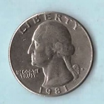 1981 D Washington Quarter - Circulated - Moderate Wear - $2.25