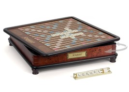 Scrabble: Luxury Edition Wood Collector Board Game - $192.52