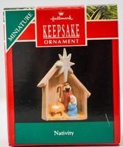 Hallmark  Nativity  1990  Miniature Keepsake Ornament - $12.17