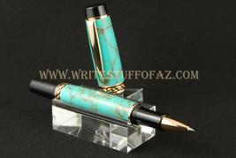 Handmade Fountain Pen or Rollerball (Olympian Elite), TruStone Kingman T... - $55.99