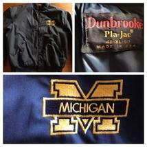 Vintage Michigan University Jacket USA XL Blue 80's - $33.25