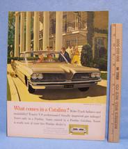 Vintage 1961 Magazine Ad for Pontiac Catalina Vista Has Trophy V8 Performance - $5.93