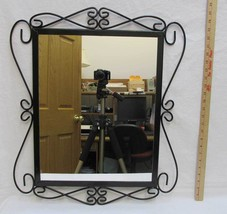 Mirror Wall Hanging Scrolling Metal Wire Frame Vertical or Horizontal Or... - $38.60