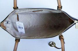 MICHAEL KORS CIARA LG EW TOP ZIP TOTE SHOULDER BAG MK BROWN ACORN image 8