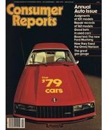 ORIGINAL Vintage 1979 Consumer Reports Magazine Autos Cars Issue - $14.84