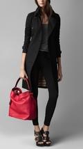 Burberry Pebbled Leather Medium Ashby Drawstring Hobo/Shoulder Bag Cadmium Red - $699.00