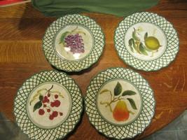 "4 Certified International-Raymond Waites Cornucopia 11"" Dinner Plates-Fruit-Latt - $24.95"