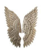 Angel Wings Iron Wall Sculpture Decor, Chic Shabby French Country,15'' x... - $325.00
