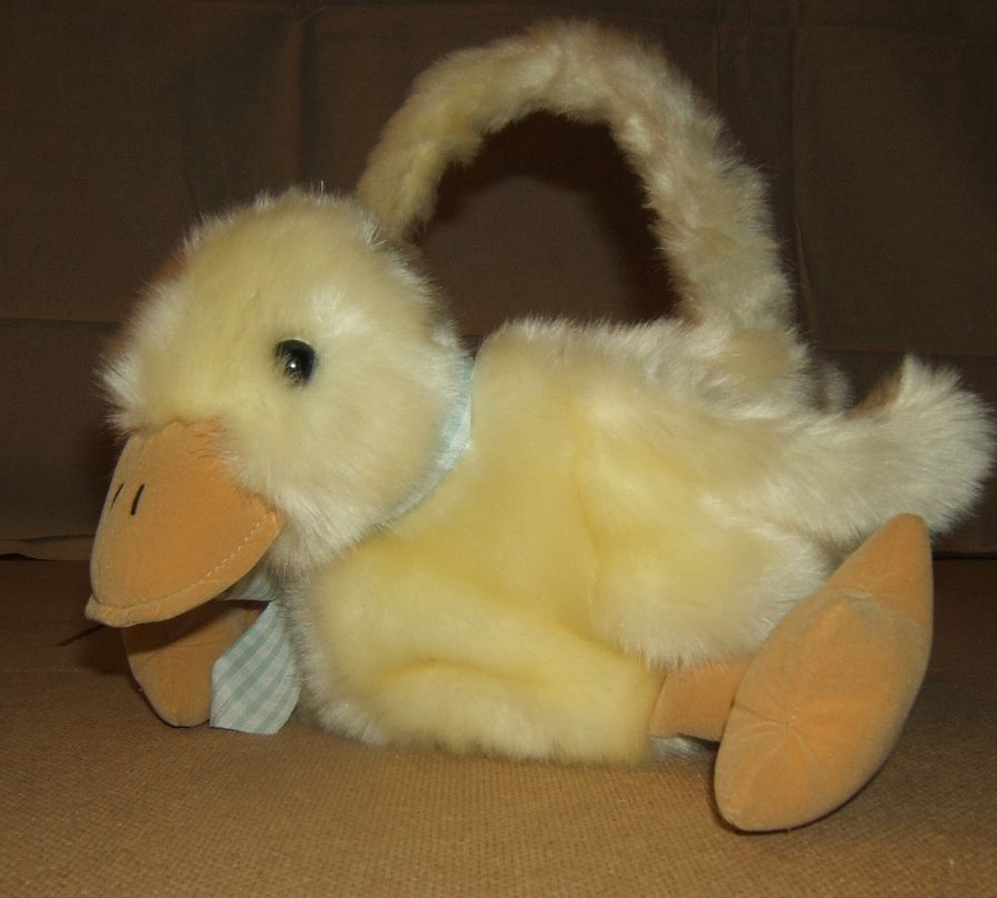 Generic Easter Basket Baby Duck 10in x 9in x 9in DB1234 * Fabric Wicker