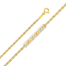 14k Tri-Tone Gold 1.5-mm Thin and Dainty Valentino Chain Necklace - $86.70