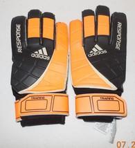 Adidas Football Soccer Mens Response Training Goalkeeper GK Goalie Gloves Sz 10 - $32.73
