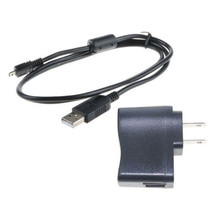 USB AC/DC Power Adapter Camera Battery Charger+USB Cord For Panasonic DM... - $11.49