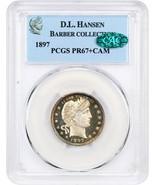 1897 25c PCGS/CAC PR 67+ CAM ex: D.L. Hansen - Superb Gem Proof - Barber... - $7,895.80