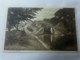 The Five Rise Lock Bingley England 1940S Post Card Walter Scott Photogra... - $86.55