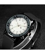 Mens Watch Casual Silicone Rubber Quartz Analog Design Sports Male Wrist... - $19.99