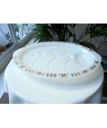 Fire King Milk White Golden Tear Drops Footed Meat Platter - $19.80
