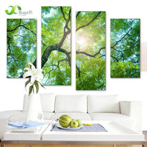 XUANYI 4 Panel Modern Printed Nature Oil Painting Canvas - $37.95