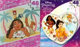 Disney Princess - 48 Shaped Jigsaw Puzzle (Set of 2) - $15.83