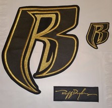 Ruff Ryder 100% LEATHER Applique/Patch Set of 3 - FREE Shipping - $59.99+