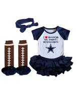 Dallas  Cowboys Girls Onesie Uniform Jersey Watching With Grandpa - $21.95+