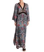 NWT ANTHROPOLOGIE BOTANIC BLISS PRINT KIMONO MAXI DRESS by RAGA MP - $113.99