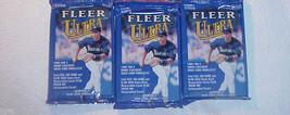 3 new 2000 Fleer ULTRA baseball HOBBY cards PACK packs - factory sealed ... - $9.85