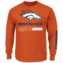 Majestic Men's NFL Primary Receiver Long-Sleeved Tee Broncos M #NIO26-387 - $24.99