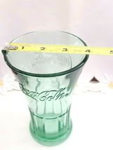 Vintage Coca Cola Glass Green Libby Flared Tumbler Heavy Duty Coke Cup 16 ounces image 5