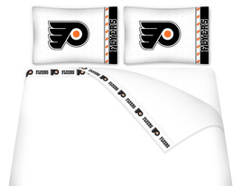 Microfiber Sheet Set - NHL PHILADELPHIA FLYERS - TWIN FULL QUEEN KING Sh... - $71.24+