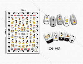 Nail art 3D stickers decal cartoon mouse dog CA143 - $3.09