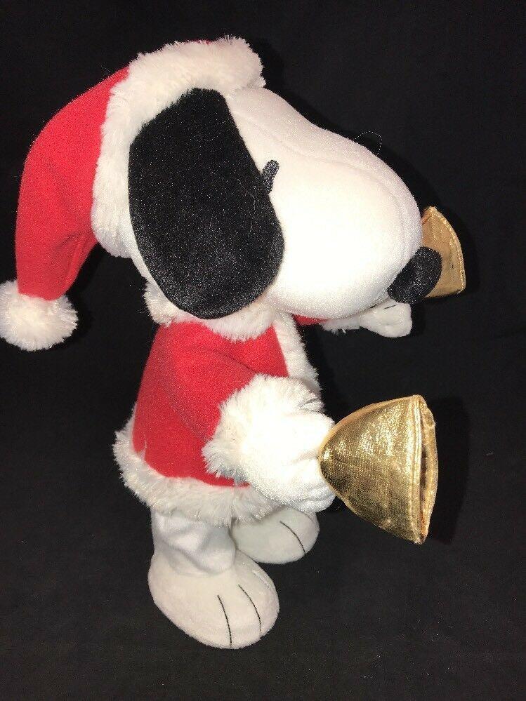 Hallmark Techno Plush Bell Ringer Snoopy Peanuts Gang #LPR2335 Christmas Music image 2