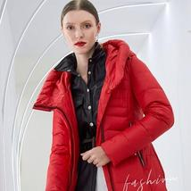 Women's  New Style Warm Solid Quilted Windproof Parka Coat