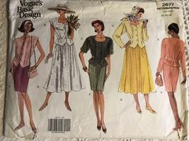 Vogue Basic Design 2677 Misses Top & Skirt - $19.95