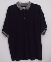 Mens Gildan NWOT Black Short Sleeve Polo Shirt Size Large - $15.95