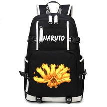 Naruto Theme Fighting Anime Series Backpack Schoolbag Daypack Bookbag Nine Lama - $36.99